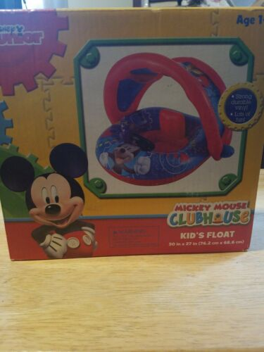 Disney Mickey Mouse Kids Float Baby Boat with sun canopy option swimming Fun