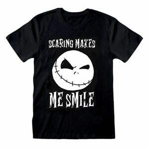 Men's Nightmare Before Christmas Jack Scaring Makes Me Smile T-Shirt
