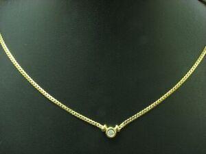 8kt-333-Giallo-Collier-con-0-10ct-Brillante-Ricoperto-Diamante-3-8g-47-0cm