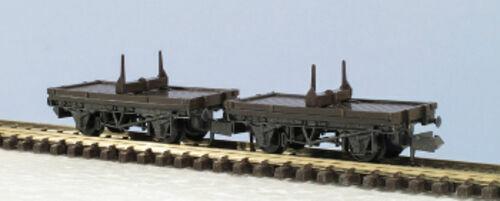 Peco Quality Line Wagon KNR-39 10Ft Single Bolster Wagons Kit Pair