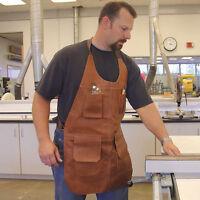 Long Leather Shop Apron on sale