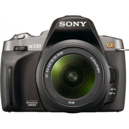sony alpha dslr a330 10 2mp digital slr camera black kit w dt