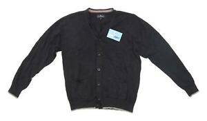 Marks-amp-Spencer-Mens-Size-M-Cotton-Black-Cardigan