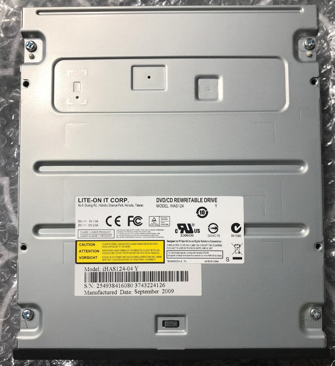 PLDS Lite-On Super AllWrite IHAS124-04 24X SATA DVD+//-RW Dual Layer Drive Bulk Black Bulk