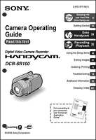 Sony Dcr-sr100 Camcorder User Instruction Guide Manual