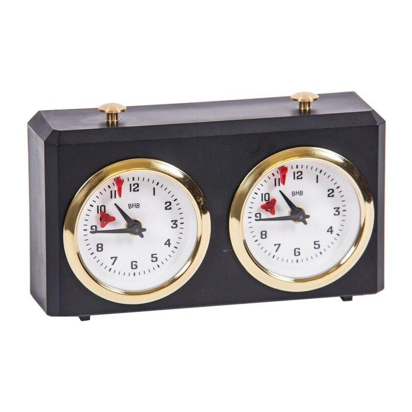 Schachuhr - BHB Classic Schwarz - Schach Timer Uhr