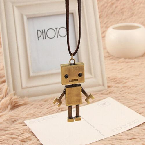 La Corée Rétro Robot Sweater Chain Length CARICATURE Exagérée Collier nouveau