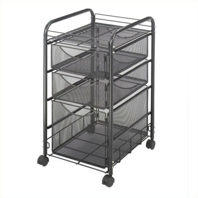 Safco Onyx Mesh File Cart Black for sale online