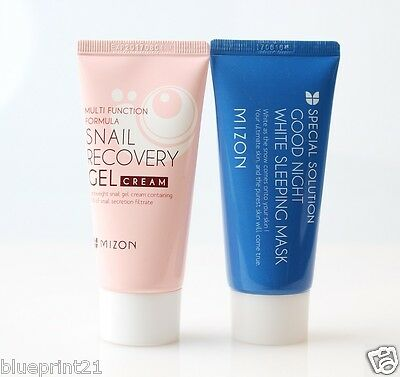 (1+1) Mizon Snail Recovery Gel Cream 45ml + Good Night White Sleeping Mask Set