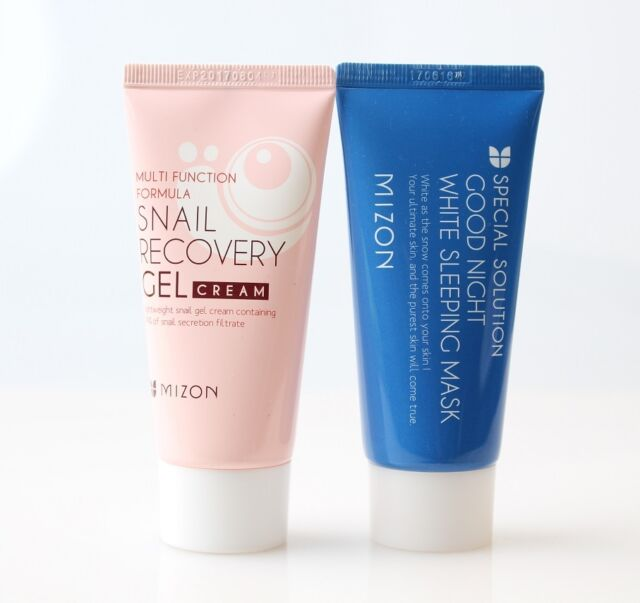 (1+1) Mizon Snail Recovery Gel Cream 45ml + Good Night White Sleeping Mask Set