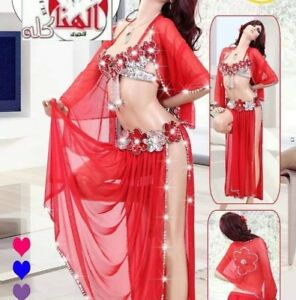 5183905071c10 Image is loading Sexy-Egyptian-professional-belly-dance-costume -Handmade-Red-