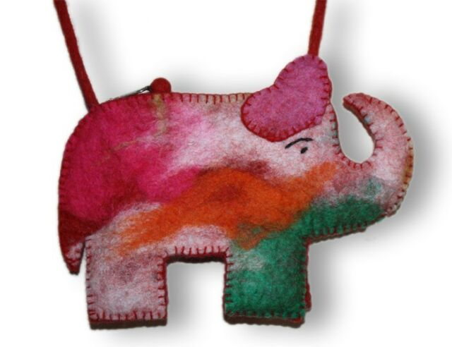 handmade kids felted cotton fashion shoulder felt bag FEL8