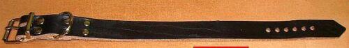 2 Lederriemen schwarz D-Ring 25,0 x 2,5 cm Befestigung Riemen Fixierungsriemen