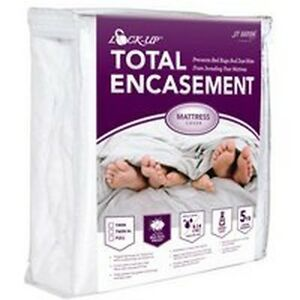 NEW-LOCK-UP-81TWENC-TOTAL-ENCASEMENT-MITE-BED-BUG-PROTECTION-TWIN-MATTRESS-COVER