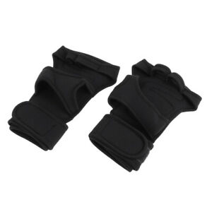 Unisex-Wrist-Support-Half-Finger-Racing-Cycling-Motorcycle-Protection-Gloves