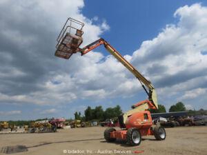 2010 JLG 600AJ 60' 4WD Diesel Boom Lift Man Aerial Platform SkyPower bidadoo
