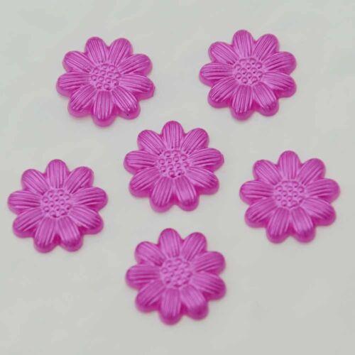 80Pcs 13mm Flower Resin FlatBack Scrapbook Appliques//Craft Decoration DIY