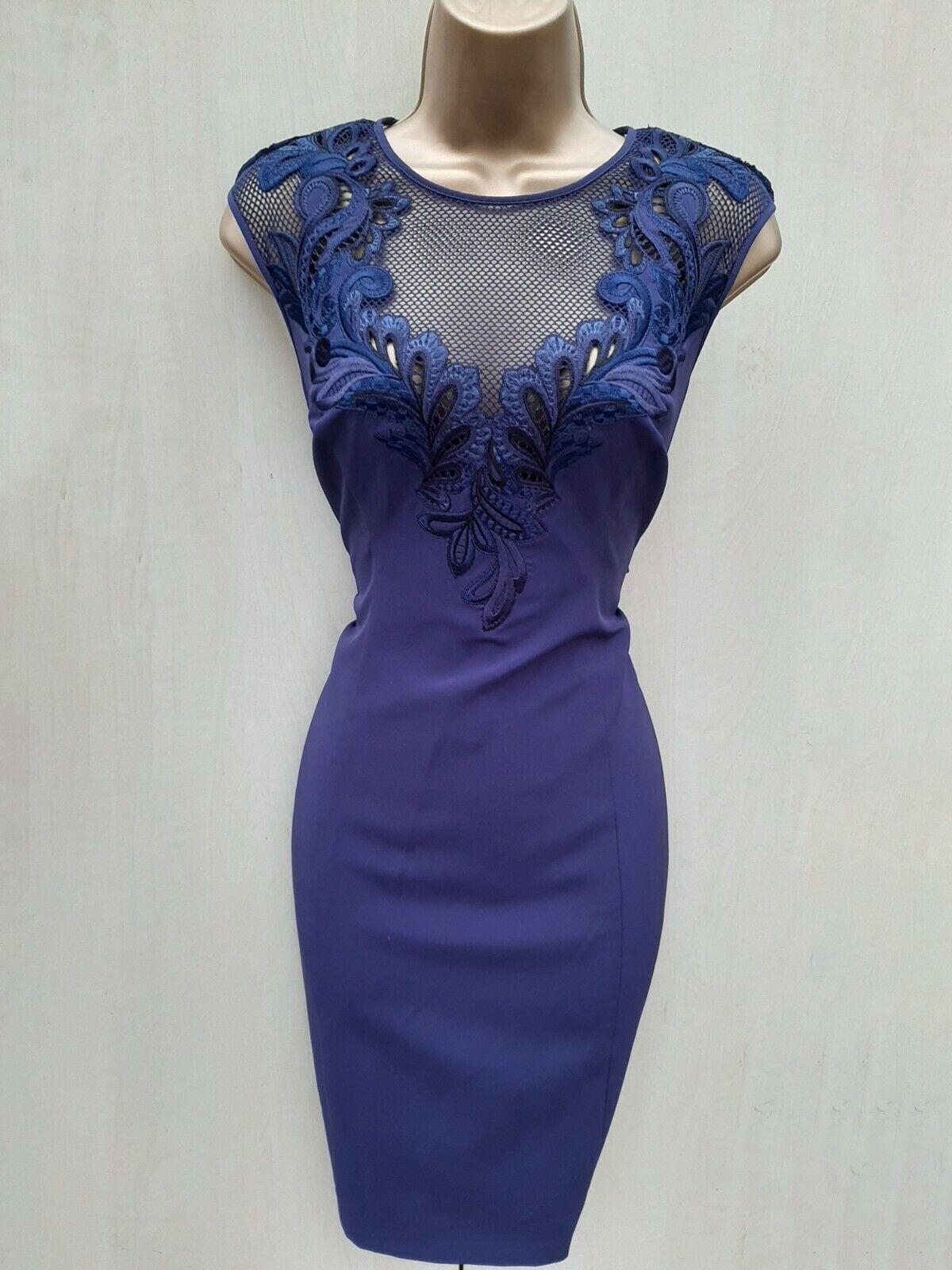 850317dec618a9 Größe 12 UK KAREN MILLEN Lace Embroiderot Pencil Dress Party Wedding Races  Navy akfvyv824-Kleider
