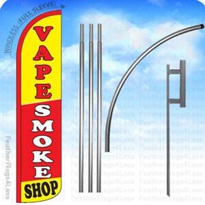 Windless Swooper Flag 3x11.5 ft Tall Feather Banner Sign yz VAPE SMOKE SHOP