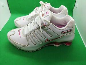NIKE-SHOX-CLASSIC-WHITE-PINK-RUNNING-WALKING-SNEAKERS-WOMEN-039-S-SHOES-SIZE-8