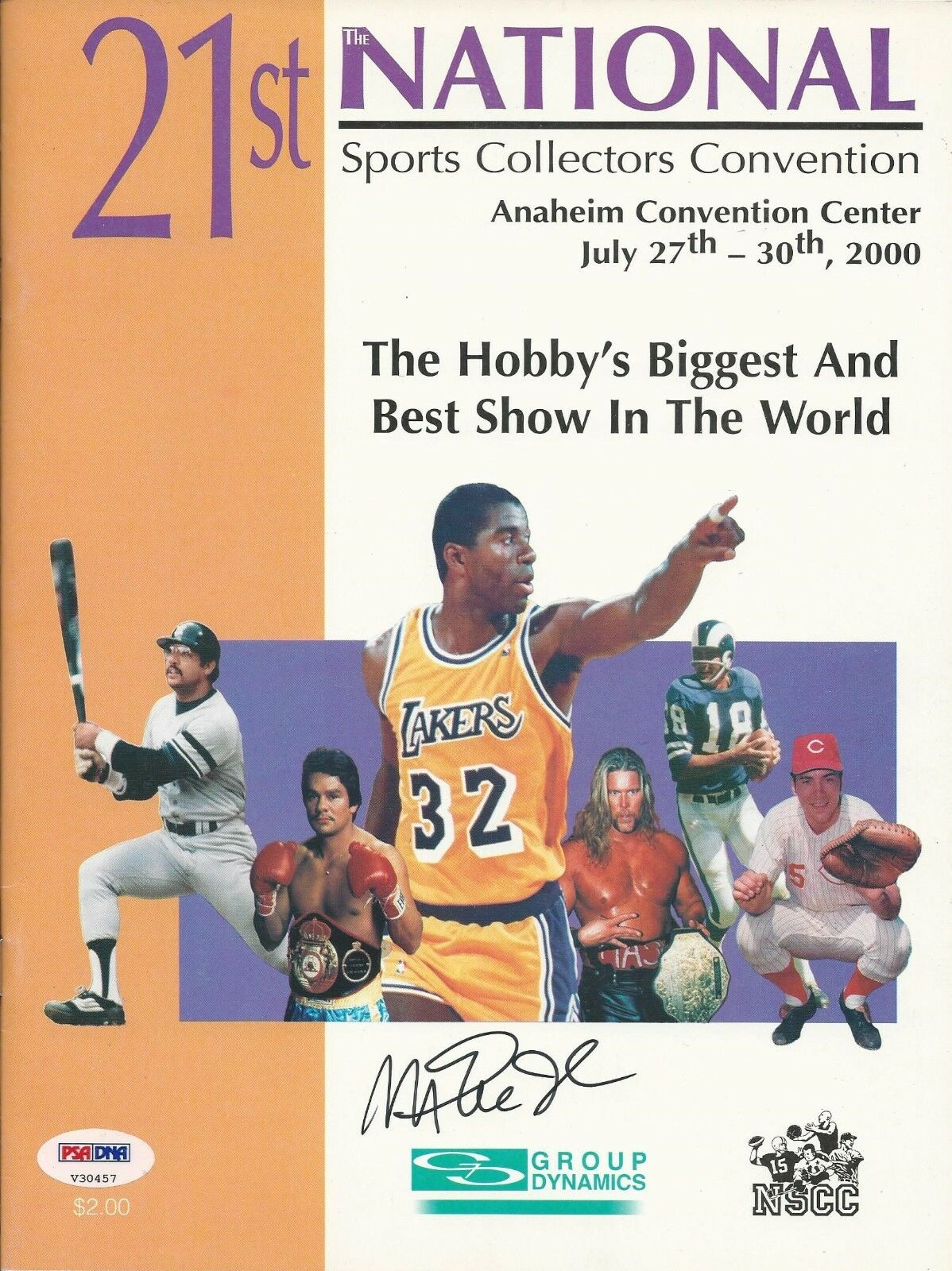 Magic Johnson Signed 21st National Magazine - PSA/DNA # V30457