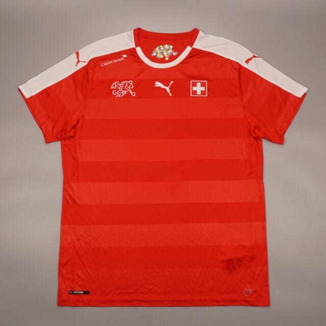 Switzerland 2016 2018 Home Football Soccer Shirt Jersey Puma Camiseta Maglia Kit