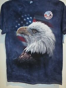 019efb8a78833 Source · Details about AMERICAN EAGLE APPAREL TIE DYE Patriotic flag shirt  men s tshirt 4th of July