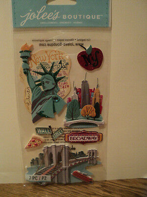 EK SUCCESS JOLEE'S BOUTIQUE NEW YORK DIMENSIONAL STICKERS BNIP