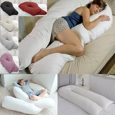 12 FT Long C U Shaped Full Body Cuddle Maternity Pregnancy Support Pillow Cover EBay