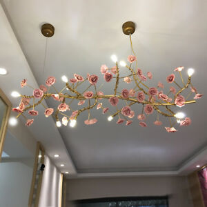 812heads ceramics flower chandelier led ceiling lamp fixtures image is loading 8 12heads ceramics flower chandelier led ceiling lamp aloadofball Images