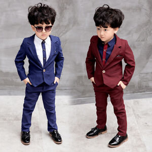 Kids-Boys-Suits-Formal-Children-Prom-Page-Wedding-Party-Suit-Black-Red-Blue-Suit