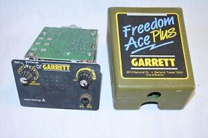 Garrett freedom ace plus metal detector manual