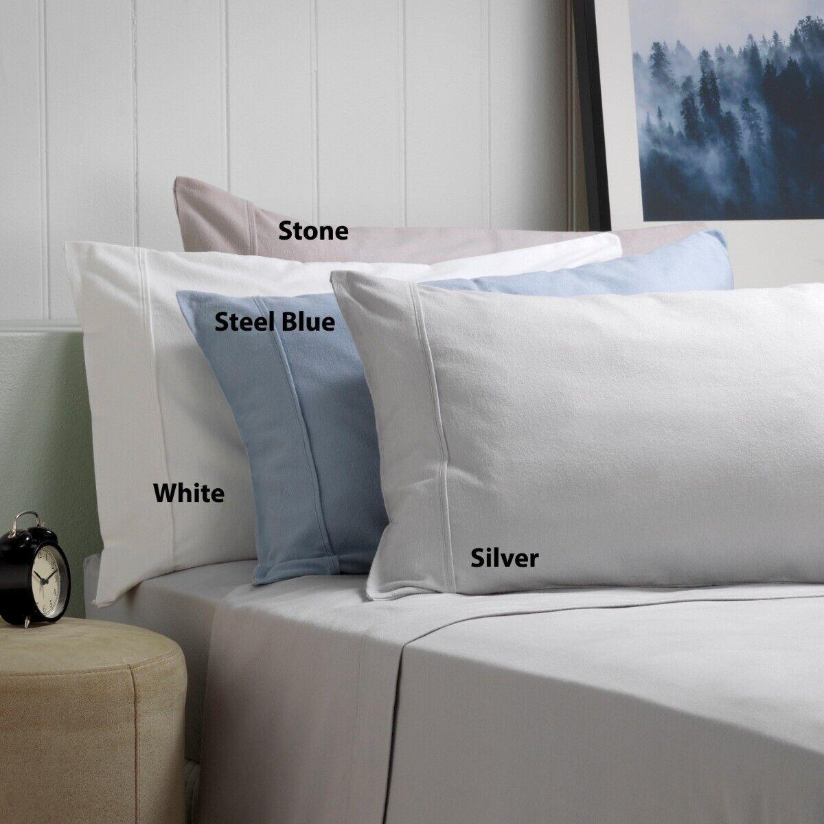Weiß Fletcher Flannelette Cotton Twill Weave 170gsm Sheet Set