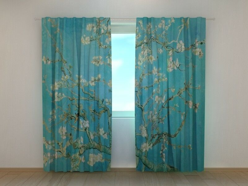 Curtain Vincent van Gogh Amandelbloesem Ready to Hang Printed 3D Art Wellmira