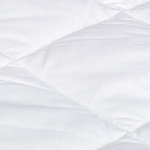 Quilted Mattress Pad Deep Pocket Protector Hypoallergenic Fill Poly-Cotton Cover