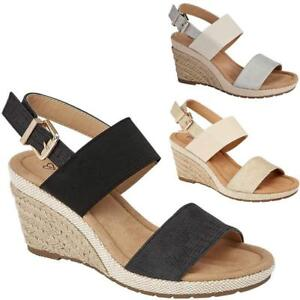 973a1deb2642 Details about LADIES WEDGE SANDALS WOMENS HEELS NEW FANCY SUMMER DRESS  PARTY BEACH SHOES SIZE