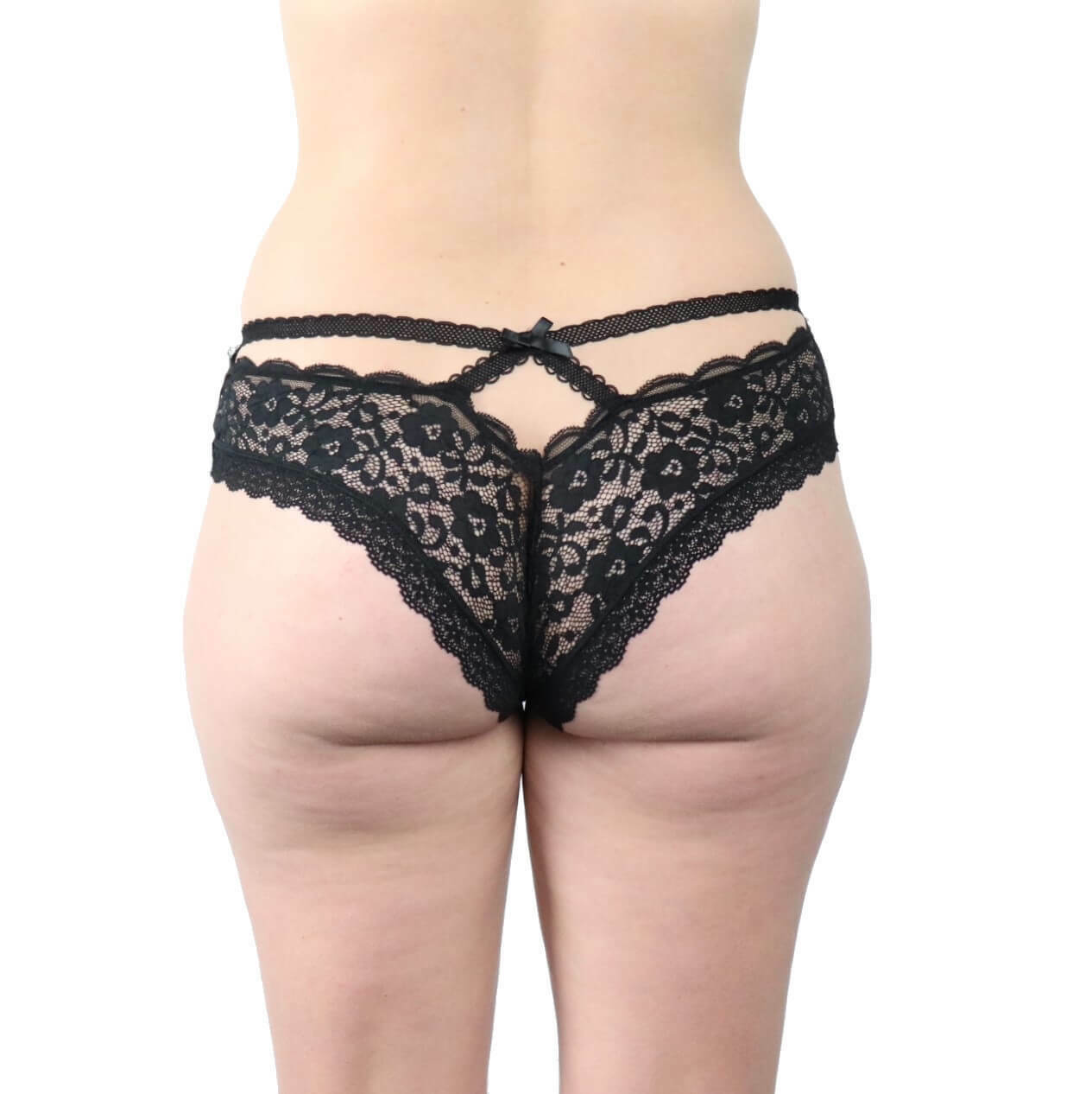 415f7515267 Details about Sexy Black Lace Strappy Elastic Underwear Panties Plus Size  8-18 Lingerie Ribbon