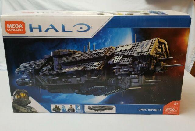 Mega Bloks Construx Halo UNSC Infinity FVK37 Master Chief Cortana Captain Lasky