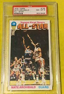 1976-Topps-Allstar-129-Nate-Archibald-PSA-8