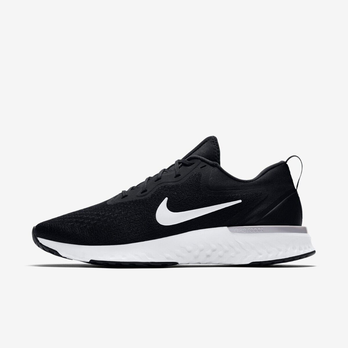 Nike Odyssey React Mens Running Trainer shoes Size 8 - 10.5 New Black RRP  -