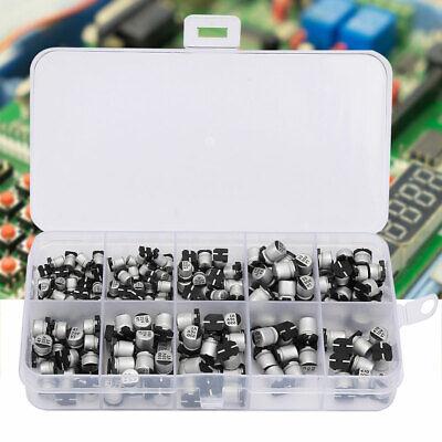 150pcs 15Value SMD Aluminum Electrolytic Capacitor Assorted Kit Set 1uF-470uF