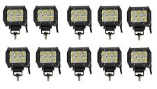 10pcs 12V 24V 18W CREE LED Work Light Spot Beam Lamp 4WD Jeep SUV ATV Truck 4x4