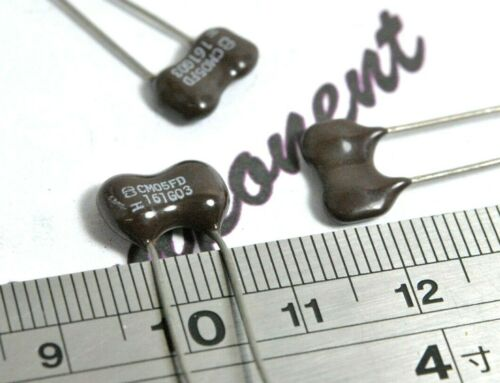 500V 2/% Silvered Mica Capacitor CM05FD161G03 160pF 2pcs Cornell Dubilier 160P