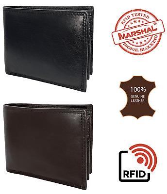 Herren Geldbörse Schwarz Geldbeutel Portemonnaie echt Leder Querformat münzenfa