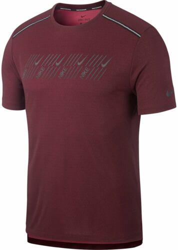 Nike Herren Sport-Fitness-Lauf-T-Shirt M NK DF Miler Tech SS rot