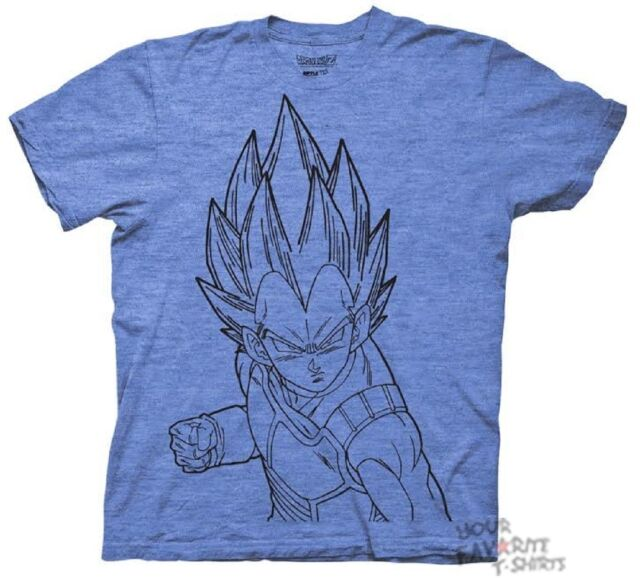 Dragonball Z Vegeta Line Art DBZ Anime Licensed Adult Shirt S-3XL