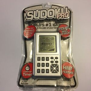 Sudoku Pro Handheld Electronic Game Pocket Arcade New In Box
