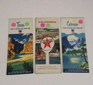 Texaco-Advertisement-Chevron-Tour-Guides-Road-Map-Texas-Travel-Brochure-Vintage