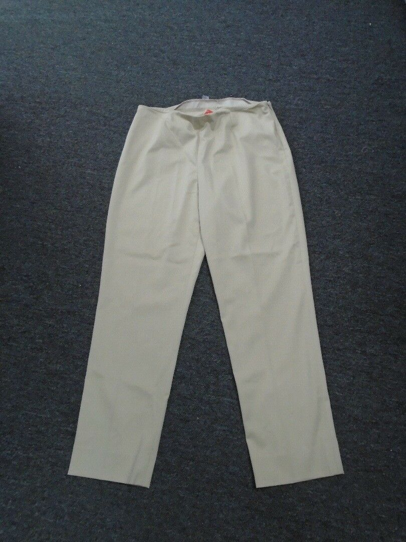 PEACE OF CLOTH Beige Khaki Polyester Blend Casual Ankle Pants Size 8 GG2435