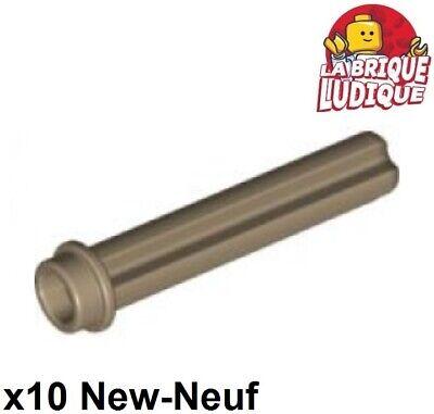 Lego Technic 10x Axe Axle 3 with Stud beige foncé//dark tan 6587 NEUF